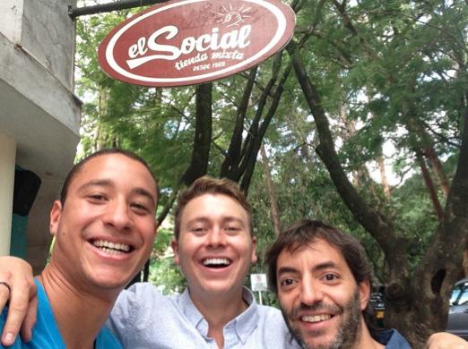 In front of El Social with Ricardo