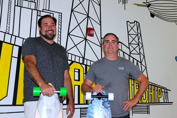 Urban Airship Chief Marketing Officer Brent Hieggelke and Director of Communications Corey Gaul.