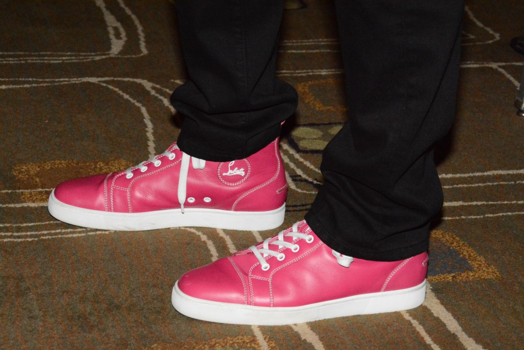 John Legere's magenta shoes