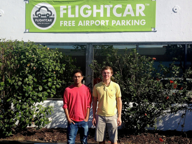 FlightCar co-founders Kevin Petrovic and Rujul