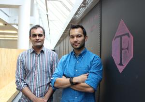 Co-founders Tirath Kamdar and Chris Chan