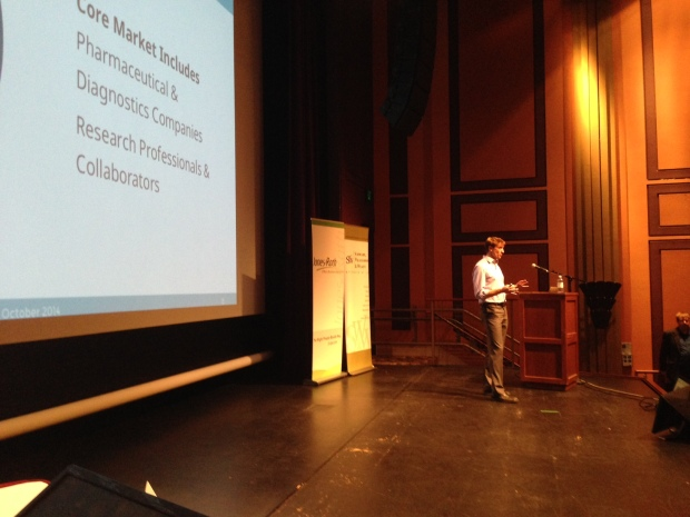 Amplion's Adam Carroll at the Bend Venture Conference.