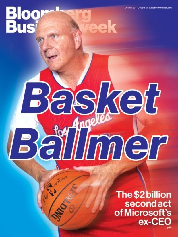 Ballmer appeared on the cover of Bloomberg Businessweek in 2014.