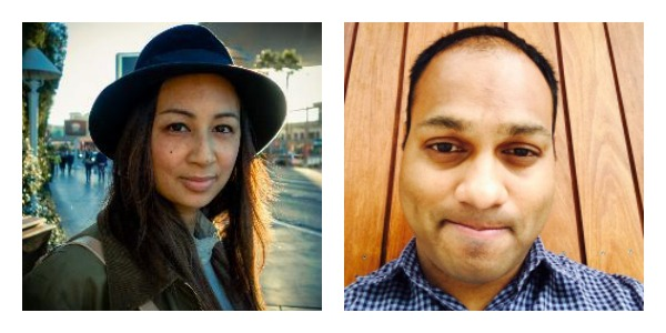 Garmentory founders Adele Tetangco and Sunil Gowda.