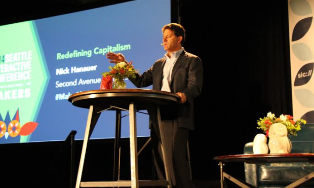Nick Hanauer at the SIC conference in Seattle.