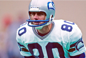 Steve Largent. Photo via Seattle Seahawks