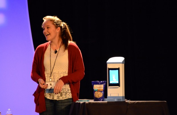 Brooke Martin wowed the crowd at the GeekWire Summit, taking home the top honors in our Inventions we Love segment.
