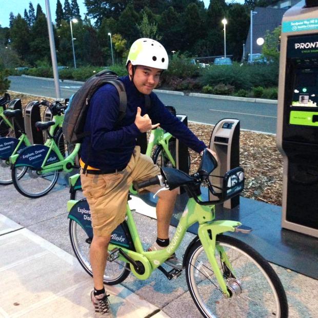 my first bike ride
