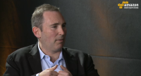 Amazon Web Services leader Andy Jassy speaks via webcast about the new AWS Germany region.