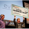 Stacy Flynn of Evrnu took home a $140,000 investment, the top prize for a for-profit. Photo from SVP via Gary Voth.