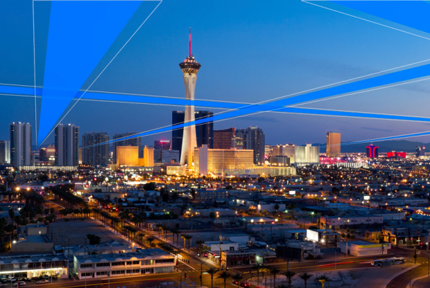 This illustration from Skyward shows a vision for a Aerial Robotic Network (ARN) in Las Vegas. (Not intended to indicated actual planned flight routes.)