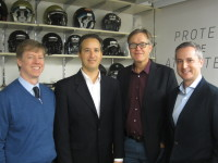 Vicis founders (left to right): Chief Medical Officer Samuel Browd; Chief Science Officer Jonathan Posner; Chief Technology Officer Per Reinhall; Chief Executive Officer Dave Marver. Photo via Vicis.