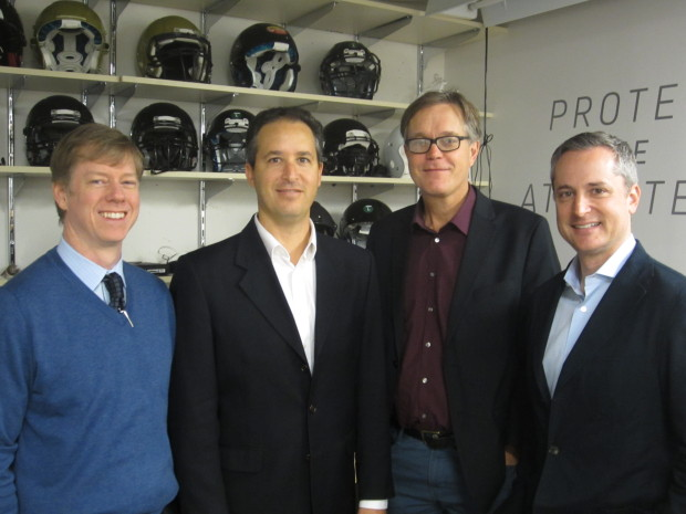 Vicis founders (left to right): Chief Medical Officer Samuel Browd; Chief Science Officer Jonathan Posner; Chief Technology Officer Per Reinhall; Chief Executive Officer Dave Marver. Photos via Vicis.