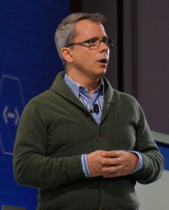Greg DeMichillie, Google's Director of Product Management for Google Cloud Platform, announces Google Container Engine