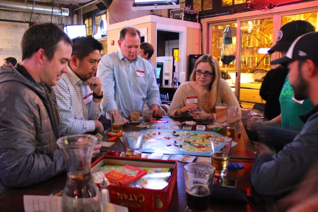 Some of the fun at GeekWire Game Night.