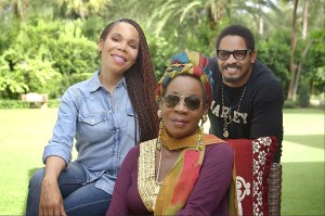 Cedella Marley, Rita Marley and Ronan Marley. Photo courtesy of Marley Natural.