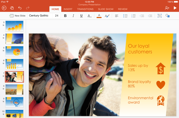PowerPoint for iPad hero