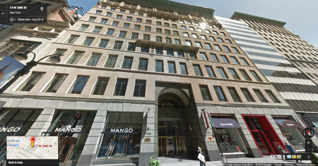 Amazon signed a lease for 470,000 square feet of space in this Manhattan building at 7 West 34th Street. Photo via Google Street View.