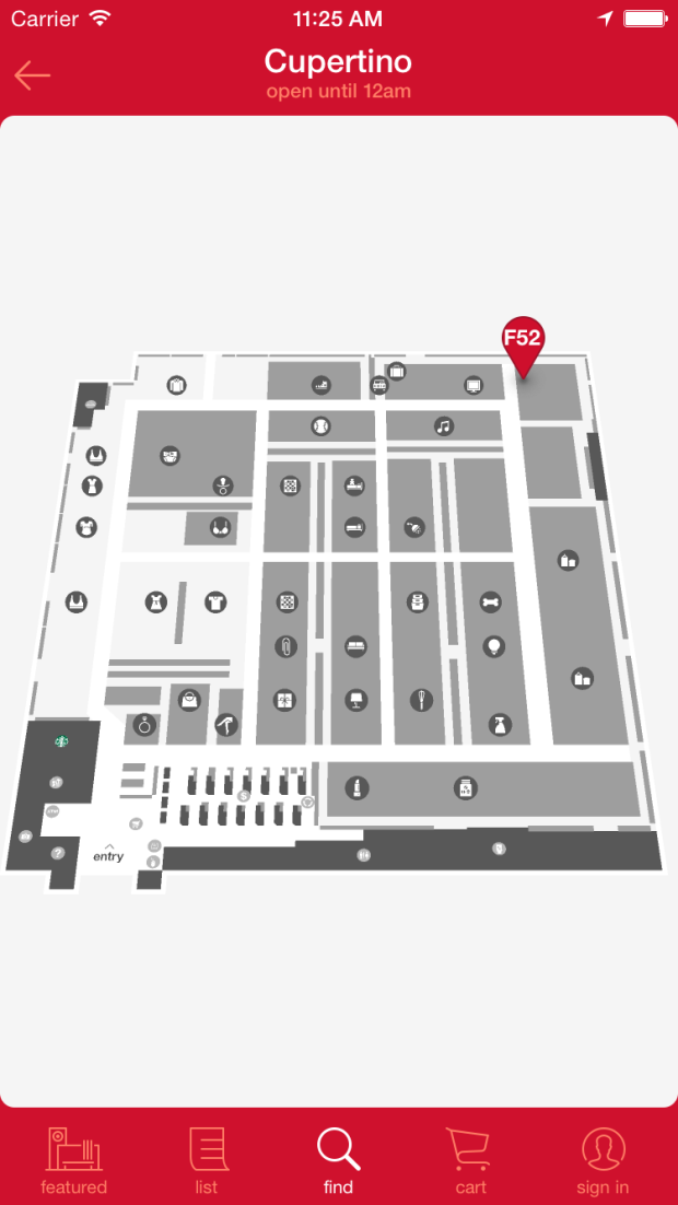 Point Inside is powering the map within the Target shopping app.