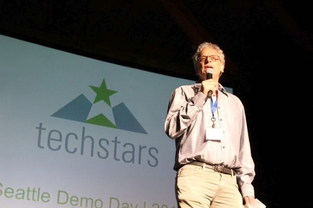 Andy Sack at the Techstars Seattle Demo Day on Thursday.