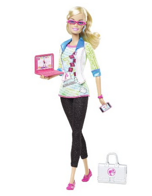 The Barbie computer engineer doll