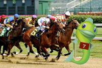 Churchill Downs bought Big Fish. GeekWire Illustration; Photo by Jeff Kubina, via Flickr.