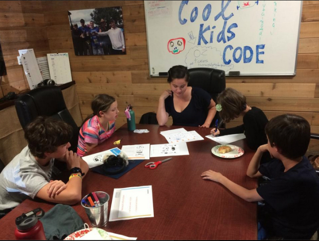 One of the coding sessions organized by Lisa Flynn in Bend, Oregon.