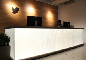 The lobby at Twitter's new office in Seattle