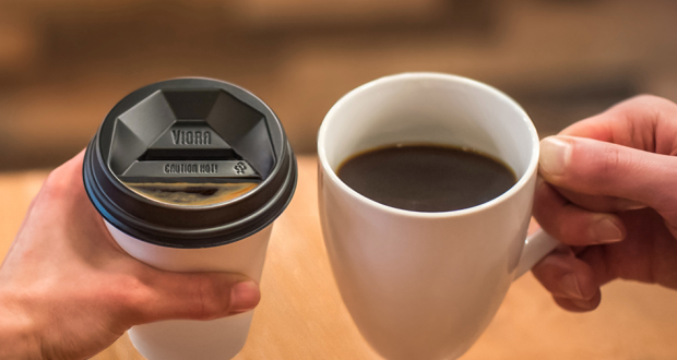 The Viora Lid Is Meant To Replicate Feeling Of Drinking Coffee From A Ceramic Cup Photo Via Vaporpath