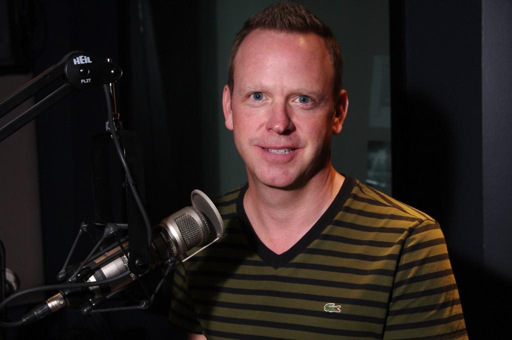 Brian McGarvey in the KIRO Radio Studios. (Erynn Rose photo).