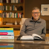 Bill Gates with his top 5 books of 2014. (Photo Credit: Gates Notes)