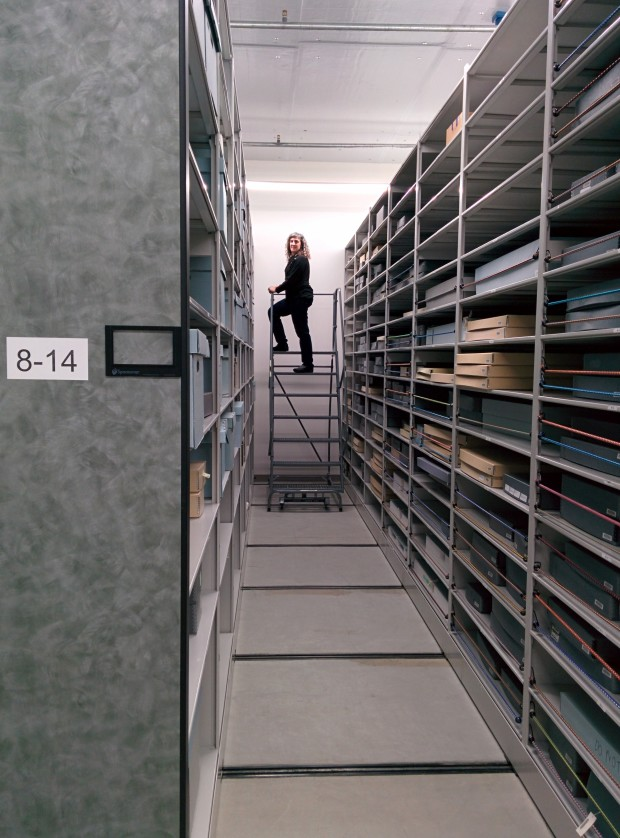 EMP Museum Collections Manager Melinda Simms in the vault.