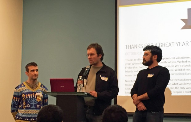 Adam Monson, Lee Colleton and Phil Mocek advocate for an open source solution