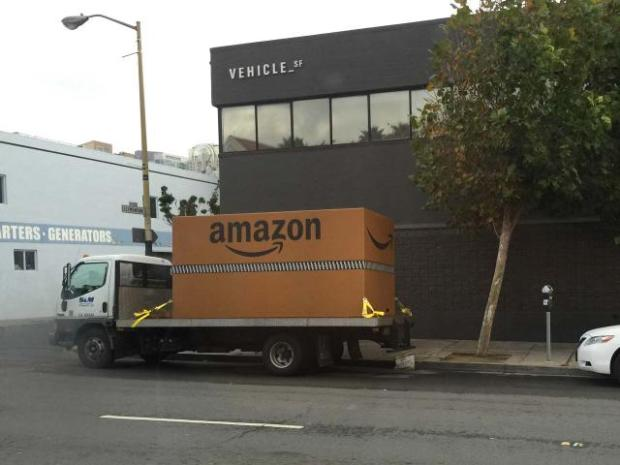 Amazon's mystery box in San Francisco. (Source: Arik Hessedahl for Re/code)