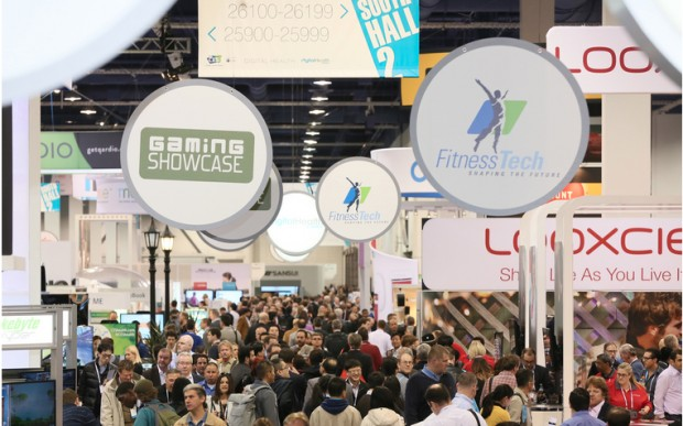 The CES show floor can be a madhouse, but GeekWire will be there to uncover the biggest trends and hottest stories. Photo via CES