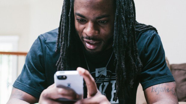 Richard Sherman playing his game, Letters of Boom. Credit: Digital Kitchen