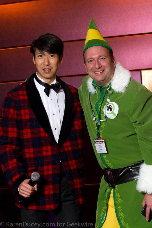 Come in a tux or dressed as an elf. Really, it's your call.