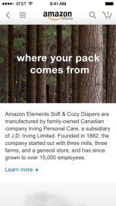 Scanning a QR code on the Amazon's wipes provides information on where the ingredients come from.