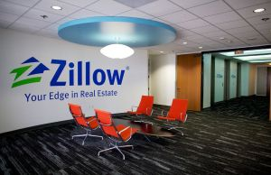 A seating area in Zillow's Irvine office