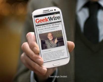 Bill Sleeper in a national Best Buy ad, touting his status as our 'Geek of the Week.'