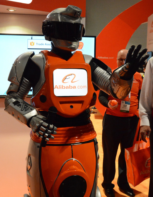 Alibab's robot man presenter at CES 2015