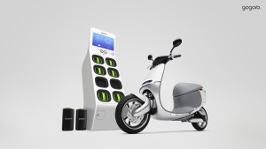Founded by HTC execs, Gogoro is building battery-powered scooters and a Energy Network, where users can swap out old batteries for new ones.