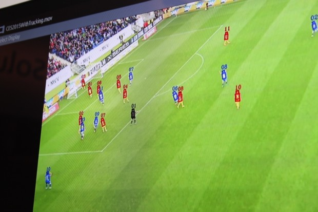 Panasonic's cameras can track individual players, who don't need to wear sensors.