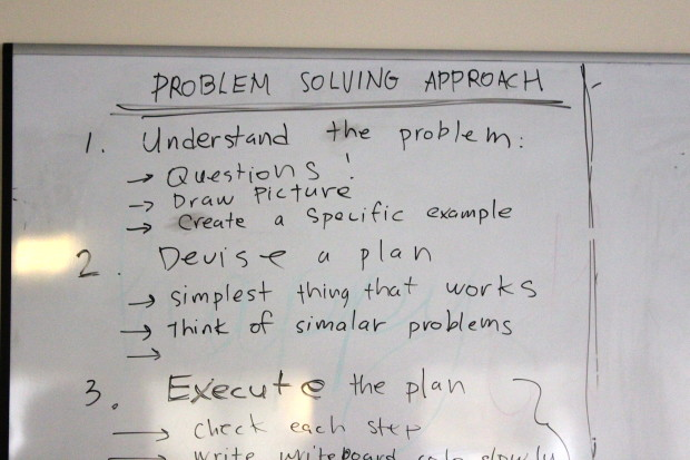 Spotted inside Ada's clasroom: Problem Solving Approach.