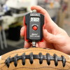 The digital gauge can deflate a football in just seconds.