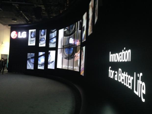 LG's massive welcoming display