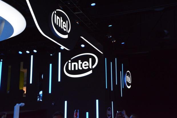 Intel booth logos