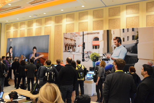 Inside the Microsoft press event at CES.
