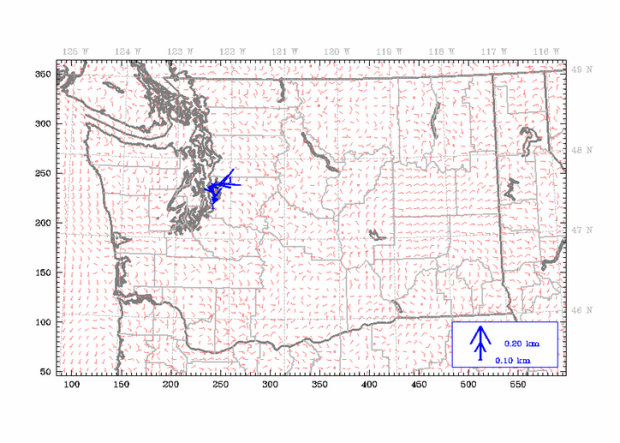 Photo via Cliff Mass Weather Blog/air patterns over Washington