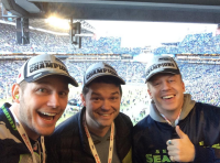 Chris Pratt with Macklemore/ Photo via Twitter/@prattprattpratt